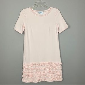 Pink dress with ruffle hem size med